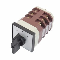 1PCS AC 380V 16A 3 Positions 3NO 3NC Latching Rotary Universal Changeover Switch