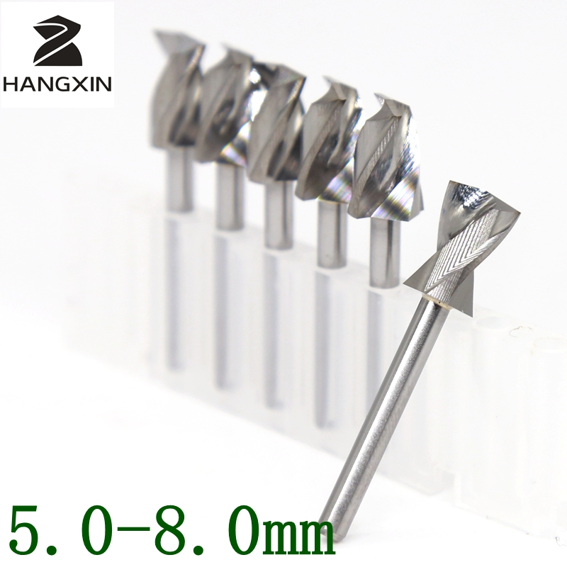 5.0-8.0mm Metalworking Center Drilling Tungsten Carbide PCB Drill CNC Router Wooden Cutter 10PCS Set Drill Bit Machine Accessori titanium coating pcb bit tungsten carbide 10pcs 0 5mm metal drill cnc router tools miniature sculpture step drill kit