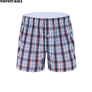 TOIVOTUKSIA Short Homme 100% Full Cotton Sous Vetement Cueca Boxer Masculina Men Cuecas Male Panties Arrow Pants