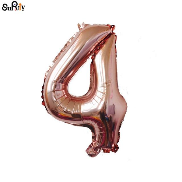 1pcs 40 Jumbo Rose Gold Balloons Huge Aluminium Number Balloons Banner kit One Second GirlBoy Birthday Anniversary Party Photo Prop