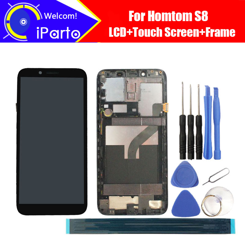 5.7 pollice HOMTOM S8 Display LCD + Touch Screen Digitizer + Complessivo telaio 100% Originale LCD + Touch Digitizer per S85.7 pollice HOMTOM S8 Display LCD + Touch Screen Digitizer + Complessivo telaio 100% Originale LCD + Touch Digitizer per S8