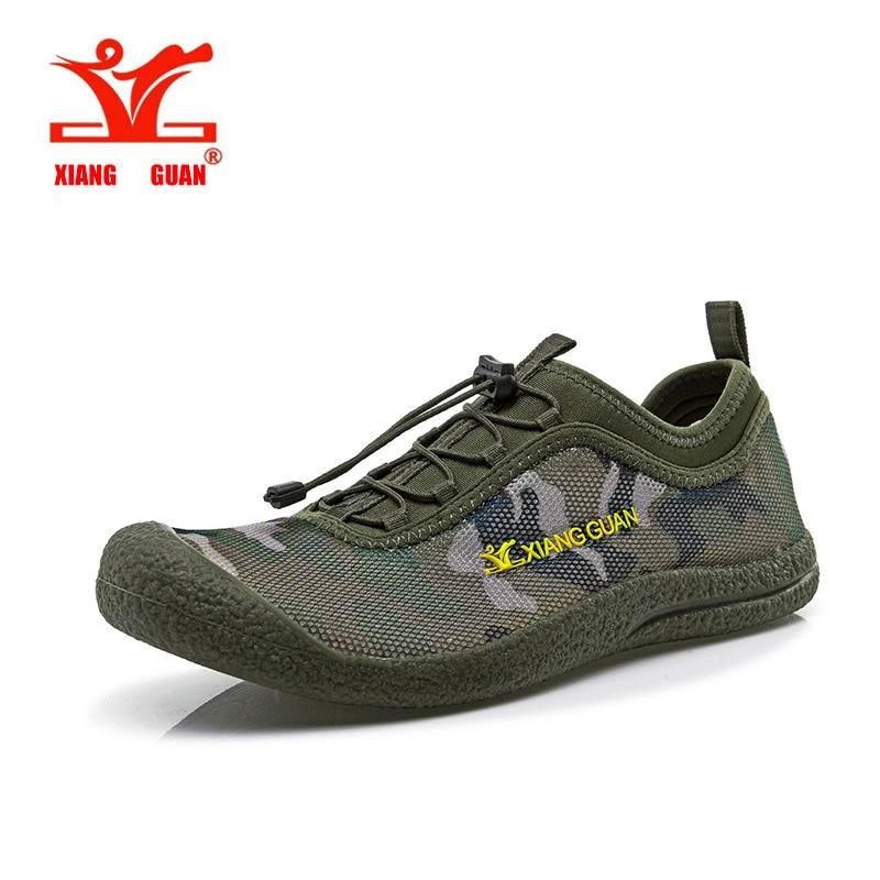 meet ce68e 28cf2 XIANGGUAN Breathable Mesh Upstream Shoes Hiking Man Walking Outdoor Trainer  Men Aqua Wading Sport Sneaker Beach