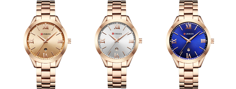 Curren relógio de ouro mulher relógios senhoras