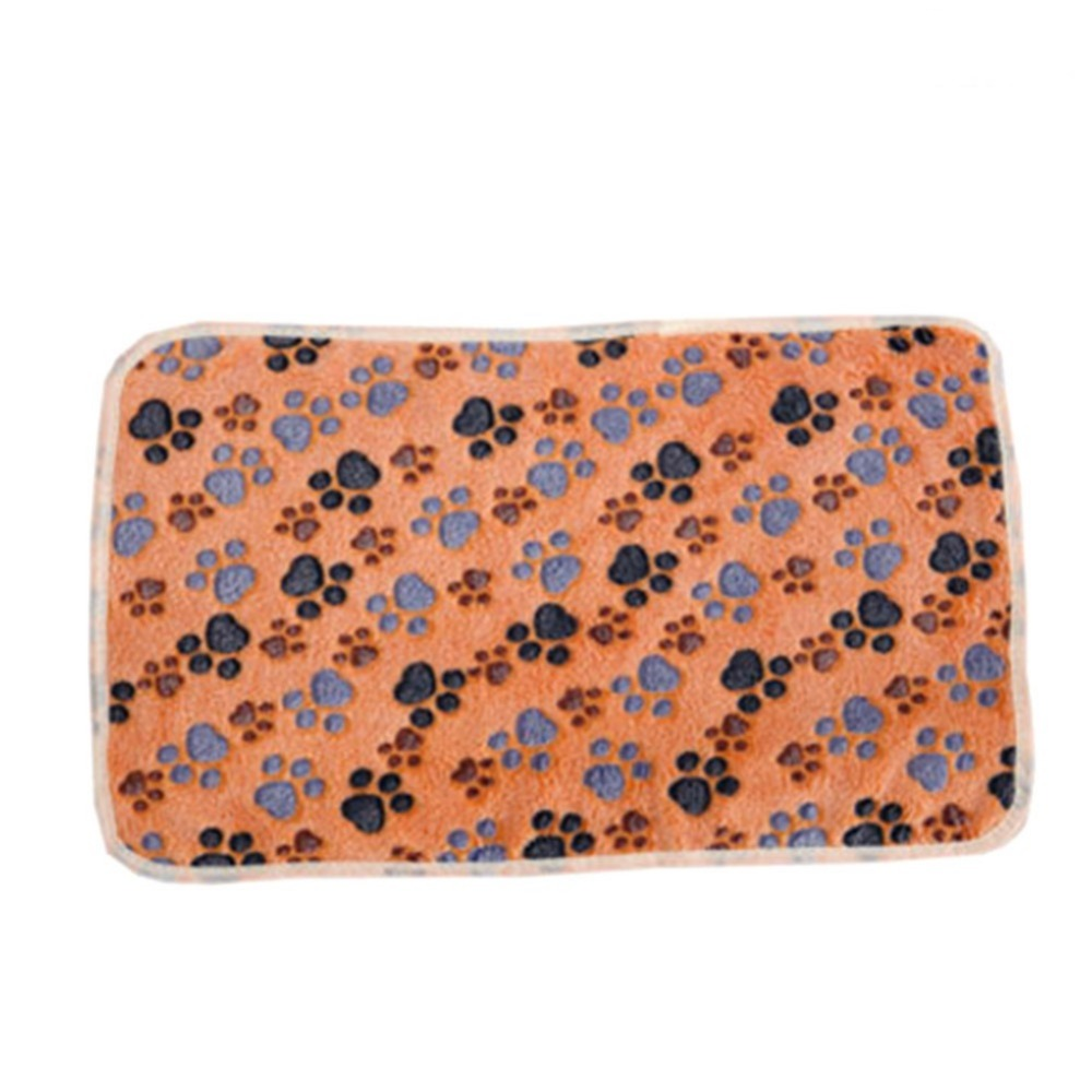 1PC Dog Cat Puppy Kitten Soft Coral Velvet Blanket Doggy Warm Bed Mat Paw Print Cushion 20*20cm /60*40CM ...