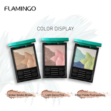 Flamingo Jungle Bright Sparkle Eyeshadow Stereo Earth Color Waterproof Non-Blooming Multiple Colors