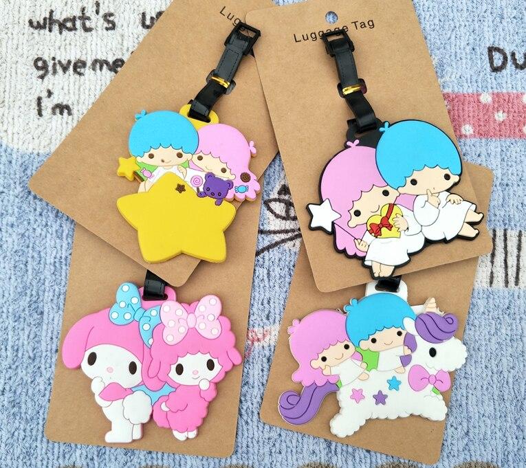 Figures Little-Twinstar Anime Decorative-Suitcase Cartoon PVC Toy Ornaments-Tags Luggage