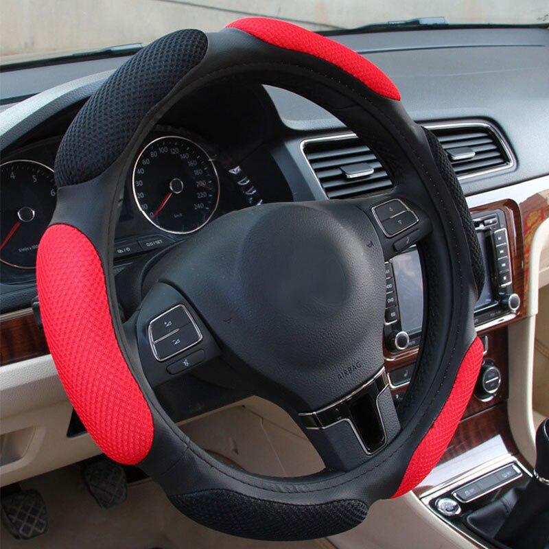 New Universal Car Steering Wheel Cover 3D non-slip Car Styling Handlebar Braid Covers Breathable Skid-proof for 38cm Diameter