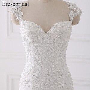Image 3 - Seksi Illusion düğün elbisesi 2018 Erosebridal Bir Çizgi Bohemian düğün elbisesi es Fermuar Geri Zarif Sevgiliye Vestido De Noiva