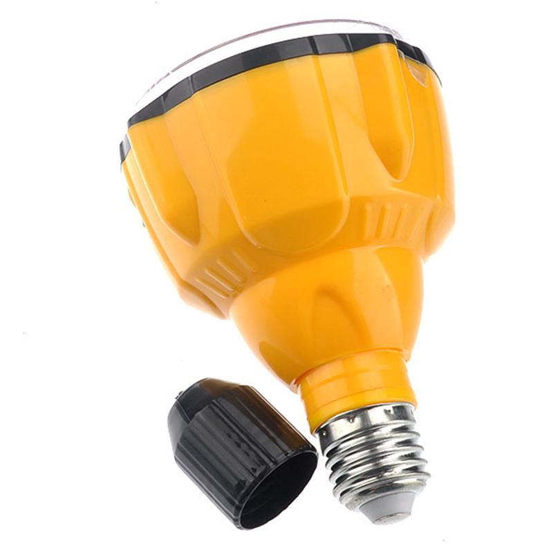E27 60W 22-LED Multifunctional Energy-saving Light Flashlight Lamp with Remote Control (Yellow)