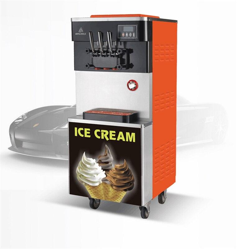 220V 28L/H Commercial 3 Flavors Yogurt Soft Ice Cream Machine Vertical Three Colors Professional Ice Cream Cone Maker 220V 28L/H Commercial 3 Flavors Yogurt Soft Ice Cream Machine Vertical Three Colors Professional Ice Cream Cone Maker