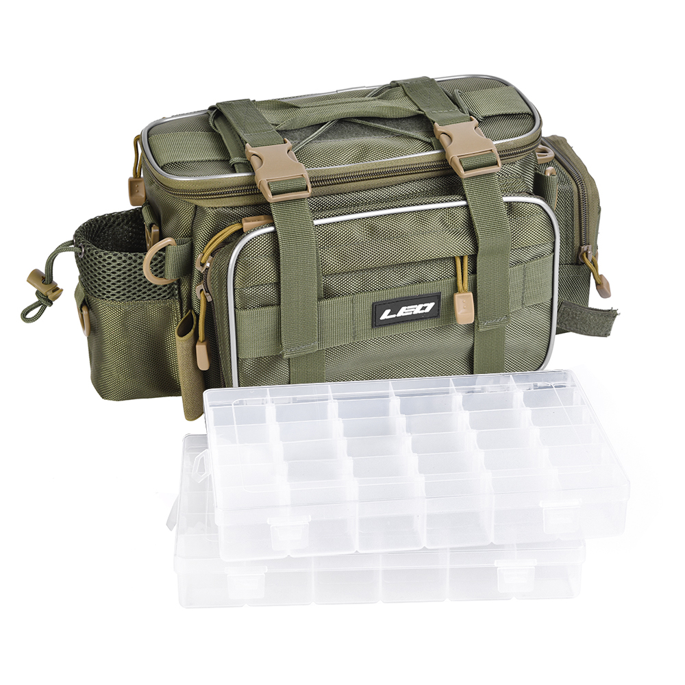 17 Leo Outdoor Sports Fishing Bag Large Capacity Multifunctional Bag Waist Pack Lures Fishing Tackle Gear Bags 40 20cm
