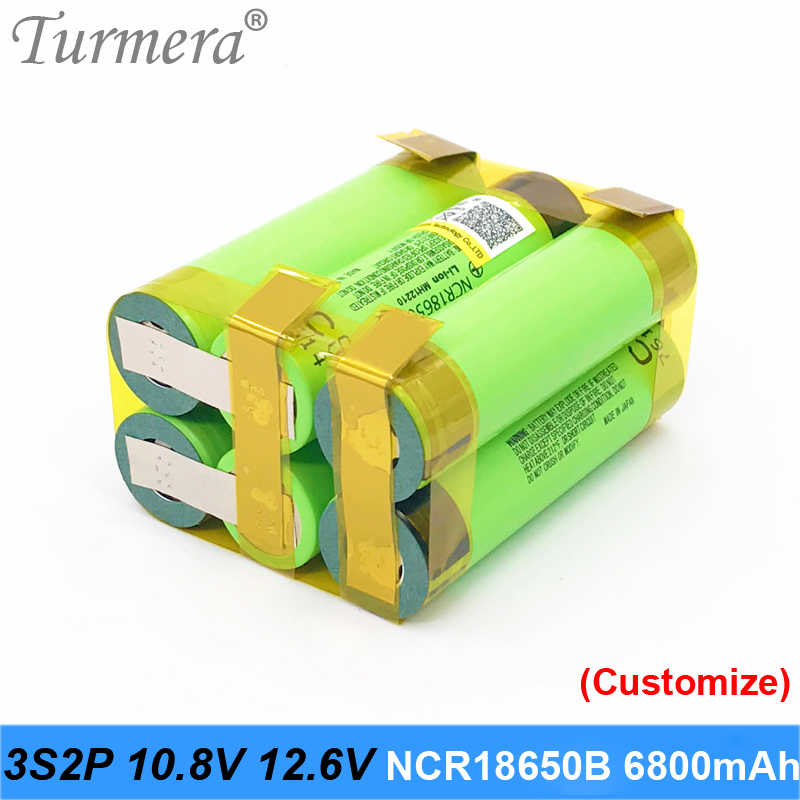 Pin 18650 3400 mAh NCR18650B 12.6 V 16.8 V 21 V cho vặn vít pin Hàn Hàn dây tùy chỉnh Pin NOV10