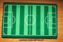 Front door mat bathroom mat soft warm strong water absorption D05064 football court carpet with anti