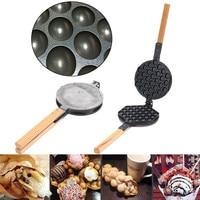 Stove Top Nonstick Hongkong Egg Puff Iron Eggettes Egg Waffle Pan Wafer Egg Makers