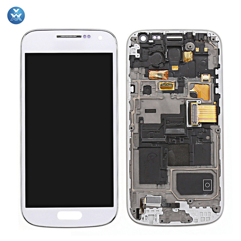 white Samsung Galaxy S4 Mini i9190 i9195 LCD+Touch Screen Digitizer+Frame
