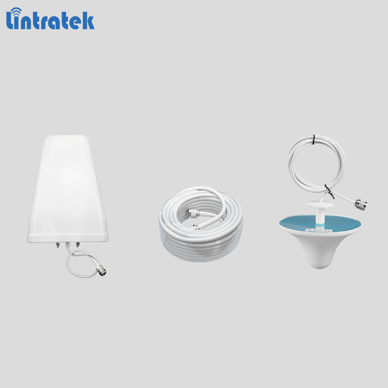 Full set antenna for signal boosters 10dBi LPDA outdoor antenna 3dBi ceiling indoor antenna plus 13 meters cable for 2g 3g 4g #8