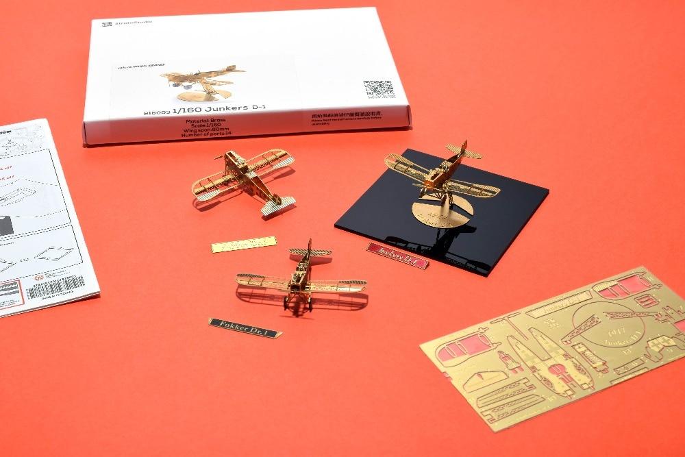 1/160 Skala Junkers D-1 DIY Metalna 3d slagalica sastavljena model - Igre i zagonetke - Foto 2
