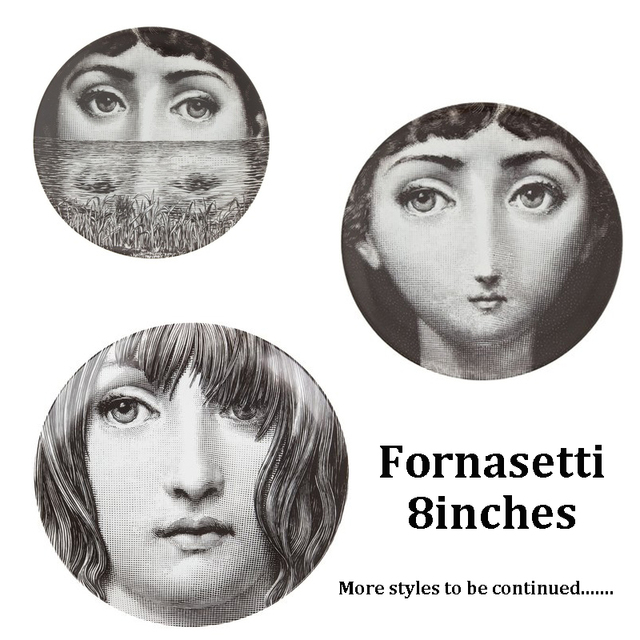 italy fornasetti plates 8 inch ceramics wall hanging decorative plates ceramic table wall ornaments home