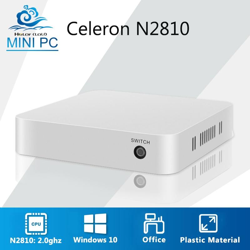 Mini Calculer Celeron N2810 Windows 7 Linux Mini PC Bureau Ordinateur 4 gb RAM 2.0 ghz En Plastique Mini tv Nettop ordinateur de poche