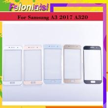 10Pcs/lot For Samsung Galaxy A3 2017 A320 A320F SM-A320F/DS Touch Screen Front Glass Panel TouchScreen Outer Glass Lens NO LCD цены