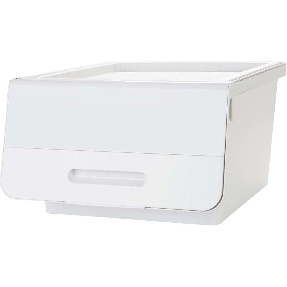 1 pc Flip boîte de rangement peut être empilé bac de rangement vêtements débris en plastique boîte de rangement boîte de finition wx9211905