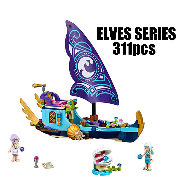 Compatible with Lego Elves 41073 lele 79223 Elves Figure blocks Naida Epic Adventure Ship building blocks toys for children 10548 elves the precious crystal mine building block set naida farran figures baby dragon toys for children compatible 41177