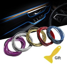 Car Styling Stickers and Decals Interior Mouldings Decoration 3D Thread Stickers Decoration Strips For Cars Auto Accessories 5m car styling brand stickers and decals interior decorative 3d thread stickers decoration strip on car accessories