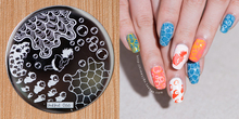 1 PCS Theme Nail Art Stamp Template Image Plates Round Shape Stencil Disk DIY Placas Stamping Nails