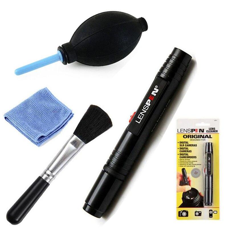 4en1 Limpiador de Polvo LENSPEN Limpieza de la Lente Pen Brush Aire Soplador Toallitas kit para canon nikon sony pentax dslr slr cámara filtros