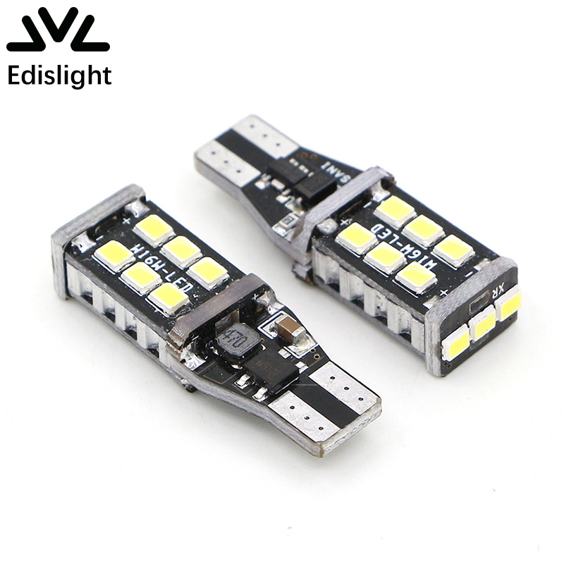Edislight Canbus Σφάλμα Ελεύθερο 921 912 906 T15 T10 800 Lumens 6000K Λευκό 2835 15-SMD Φώτα LED Φωτιστικά για Backup Αντίστροφη Φωτισμός