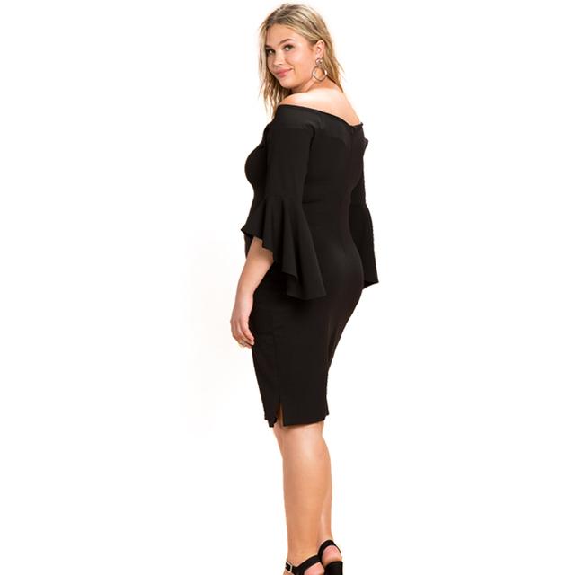 Winter 5xl 6xl Women Party Dress Off Shoulder Bodycon Dress Plus Size Women Clothing Vestidos