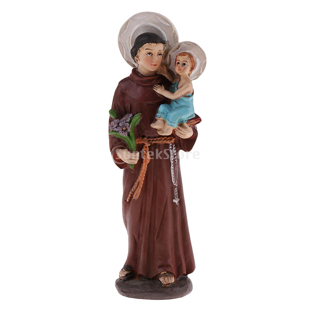 Resin Religious Man Figurine Father and Son Figure Sculpture for Home Decor Collectible