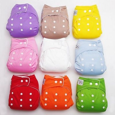 Multi-colored 1 PCS  Adjustable Reusable Baby Infant Cloth Diapers Soft Covers Boys Girls Washable Adjustable one size Fraldas