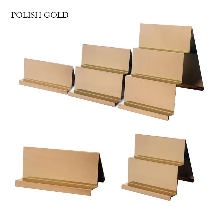 Commercio all'ingrosso Lucido Oro Argento Borsa Del Portafoglio Banco di mostra Logo Personalizzato Borsa Del Portafoglio Display Stand Rack