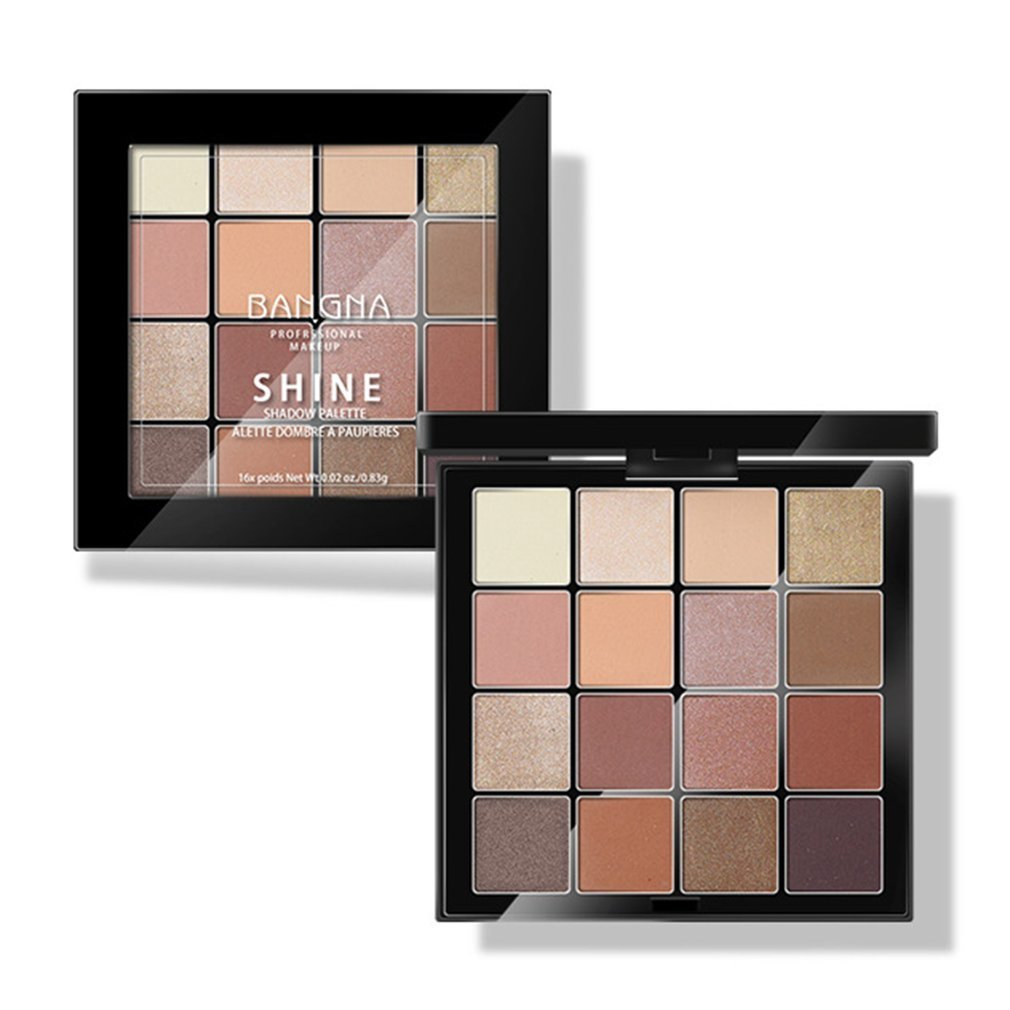 16colors Beauty Glazed Gorgeous Me Charming Eyeshadow Palette Shimmer Nude Pigmented Eye Shadow Powder Pallete beauty glazed brand 35 colors face makeup eye shadow palette eyeshadow pallete shades shimmer matte eye shadow beauty maquiagem