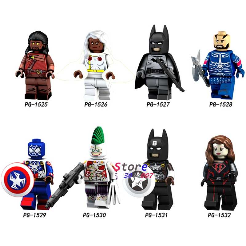 Satu Bangunan Blok Super Man Heimdallr Badai Batman Bushwacker Spider-Man Captain America Joker Figure DIY Mainan untuk Anak