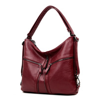 3 In 1 Multifunctional Backpack Women Soft Leather Backpack Female Travel Shoulder Bag Convertable Hand Bags Sac A Dos Femme