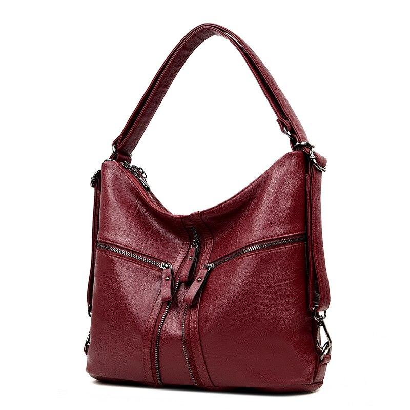 3 en 1 Sac à Dos multifonctionnel femmes en cuir souple Sac à Dos Femme voyage Sac à bandoulière Convertable sacs à main Sac A Dos Femme