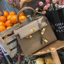 Brand original high-end quality Korean fashion trend Clemence buckle small square shoulder bag across wild ladies Kate bag