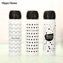 Thermocup hipopótamo Casa 450 ml Termo de Acero Inoxidable Botella de Agua de Té Taza de Café Aislados Tazas Termo Garrafa Termica