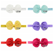 4.5″ 12 Colors Chiffon Bowknot Teens Girls Headbands Elastic Hair Bands Child Kids Headbands Bow Band Hair Accessories Newest