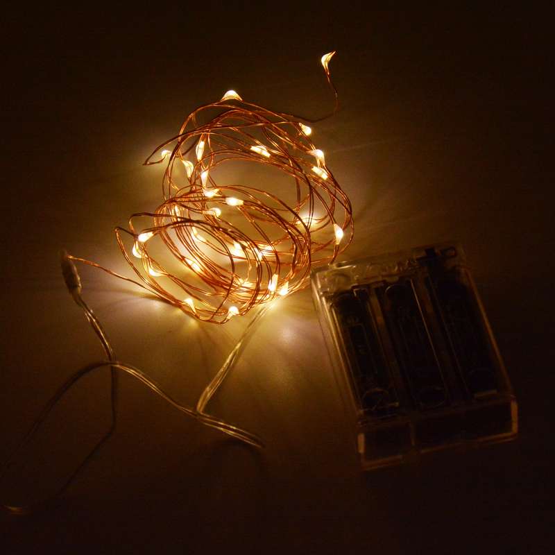Starlight Led String Lights 10 Copper Wire : Aliexpress.com : Buy 3M 10FT 30 LED String Copper Wire LED light Waterproof 3X AA Battery ...