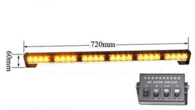 Higher star 72cm 24W Led car strobe warning lights,emergency light bar with controller,waterproof