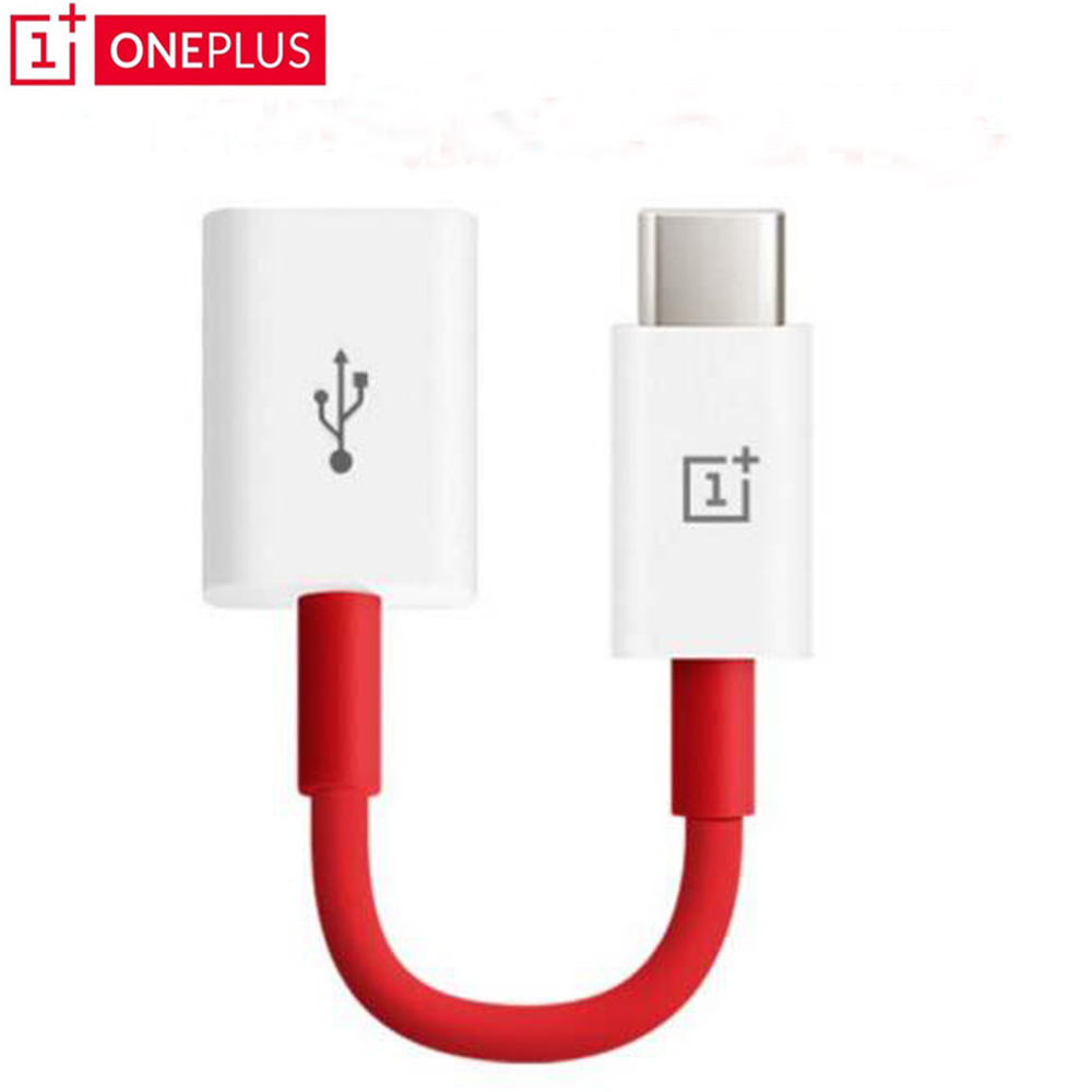 100% Original oneplus OTG type-c adaptateur câble pour oneplus 3 3 T 5 5 T 6 Support stylo lecteur/U disque/souris/poignée de jeu