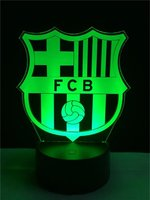 3D Soccer Sports Night Light LED Touch Visual Decor FCB Football ClubTable Lamp 7 Color Changing