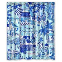 "Lilly Pulitzer Summer Prints Blue Custom Shower Curtain 60 ""x 72"""
