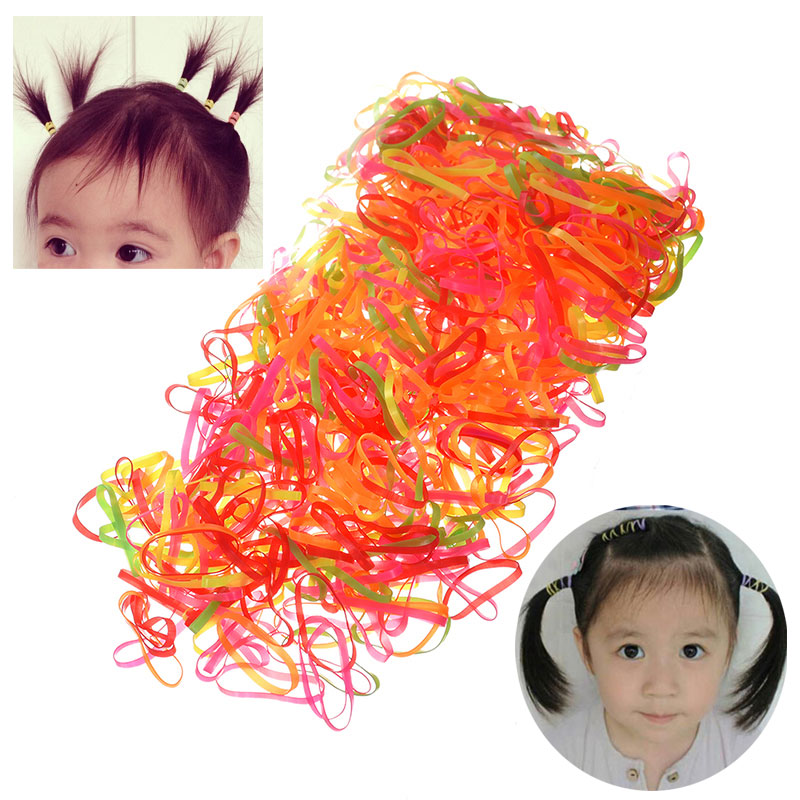 M MISM 2000/600pcs Colorful Kids Elastic Hair Bands Rubber Bands Headband Hair Ropes for Girls Hair Accessories Ponytail Holders m mism new arrival korean style girls hair elastics big bow dot flora ponytail rubber hair rope hair accessories scrunchy women