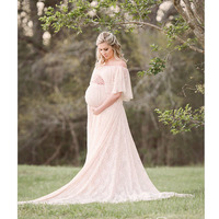 Maternity Photography Props Pregnancy Dress Photography Maxi Dress Gravidas Vestidos Lace Clothes For Pregnant Women Photo Shoot