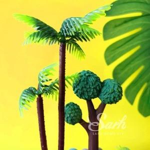 Image 4 - Adornos de pastel de cocoteros y Leones Ins para cumpleaños, decoración de postres para niños y niñas, regalos bonitos para fiestas infantiles
