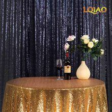 New Arrival  10x12FT Navy Blue/ Pink Gold/Gold/Rose Gold Sparkly Sequin Fabric  Photography Backdrop Party Decoration